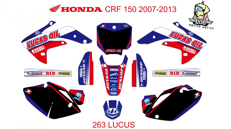 HONDA CRF 150 2007-2013 GRAPHIC DECAL KIT CODE.263