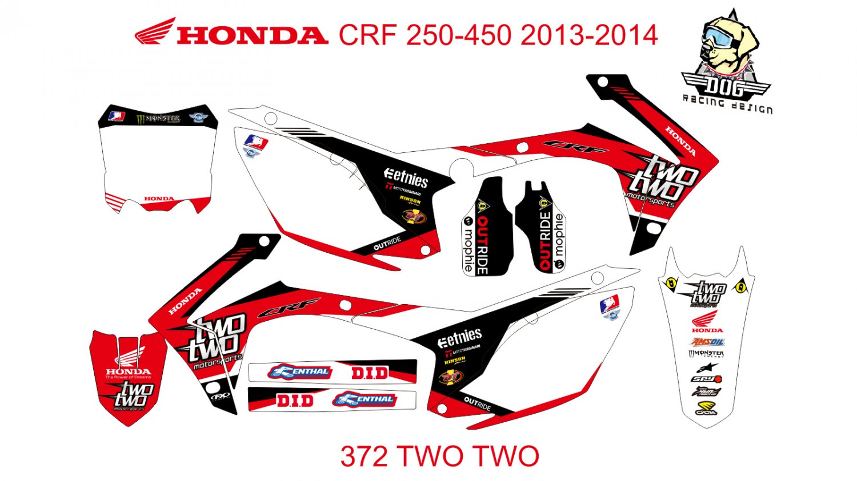 HONDA CRF 250-450 2013-2014 GRAPHIC DECAL KIT CODE.372