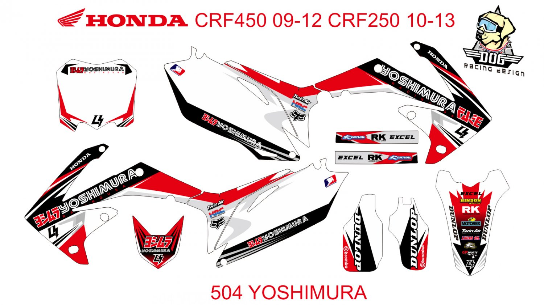 HONDA CRF 250 2010-2013 CRF 450 2009-2012 GRAPHIC DECAL KIT CODE.504