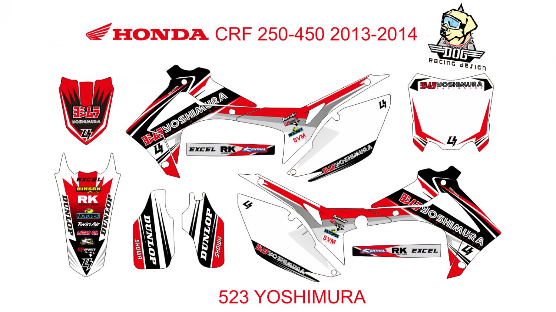 HONDA CRF 250-450 2013-2014 GRAPHIC DECAL KIT CODE.523