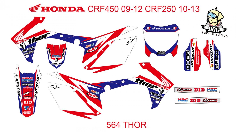 HONDA CRF 250 2010-2013 CRF 450 2009-2012 GRAPHIC DECAL KIT CODE.564