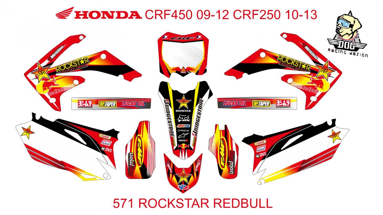 HONDA CRF 250 2010-2013 CRF 450 2009-2012 GRAPHIC DECAL KIT CODE.571