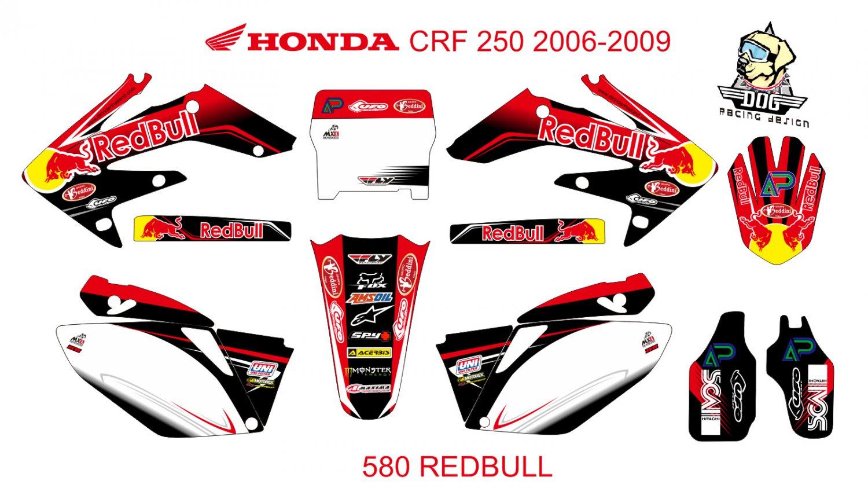 HONDA CRF 250 2006-2009 GRAPHIC DECAL KIT CODE.580
