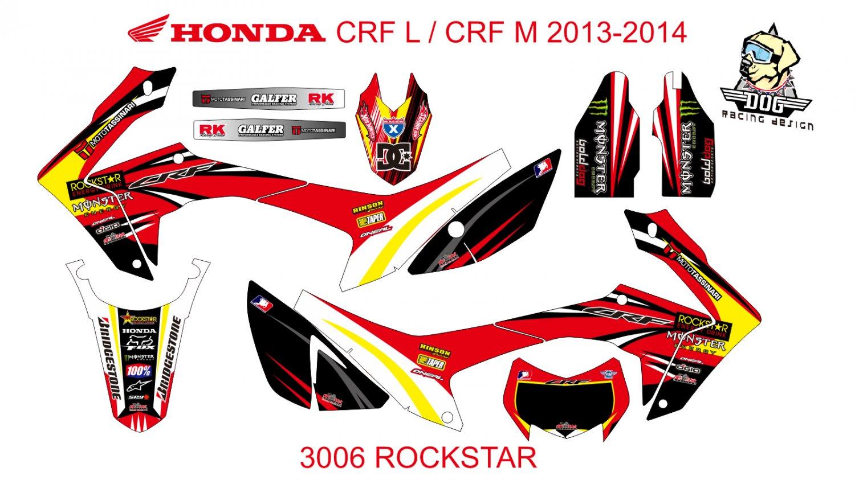 HONDA CRF L CRF M 2013-2014 GRAPHIC DECAL KIT CODE.3006