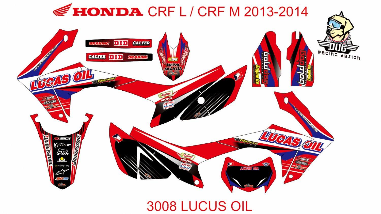 HONDA CRF L CRF M 2013-2014 GRAPHIC DECAL KIT CODE.3008