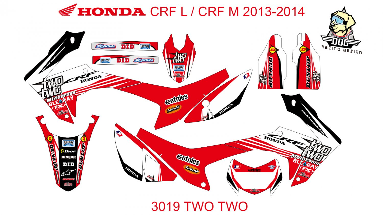 HONDA CRF L CRF M 2013-2014 GRAPHIC DECAL KIT CODE.3019