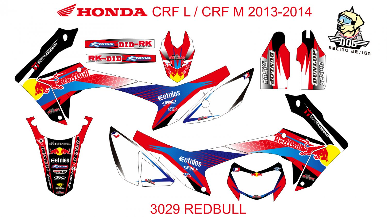 HONDA CRF L CRF M 2013-2014 GRAPHIC DECAL KIT CODE.3029