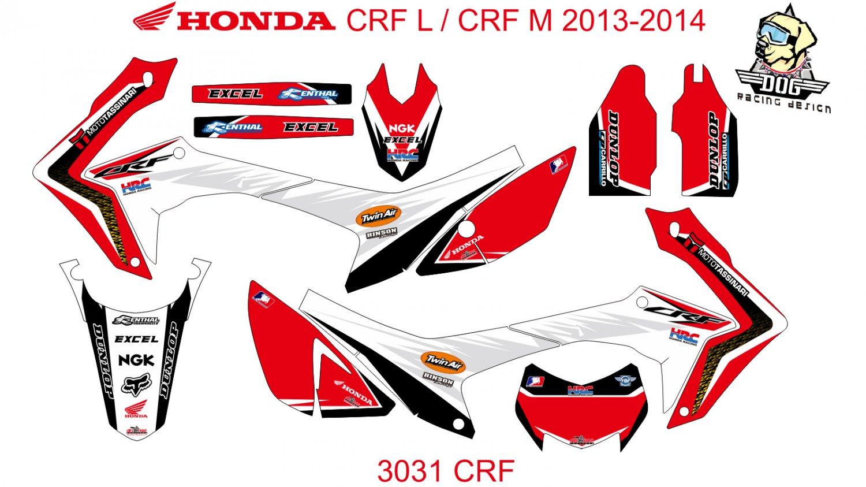 HONDA CRF L CRF M 2013-2014 GRAPHIC DECAL KIT CODE.3031