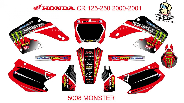 HONDA CR 125-250 2000-2001 GRAPHIC DECAL KIT CODE.5008