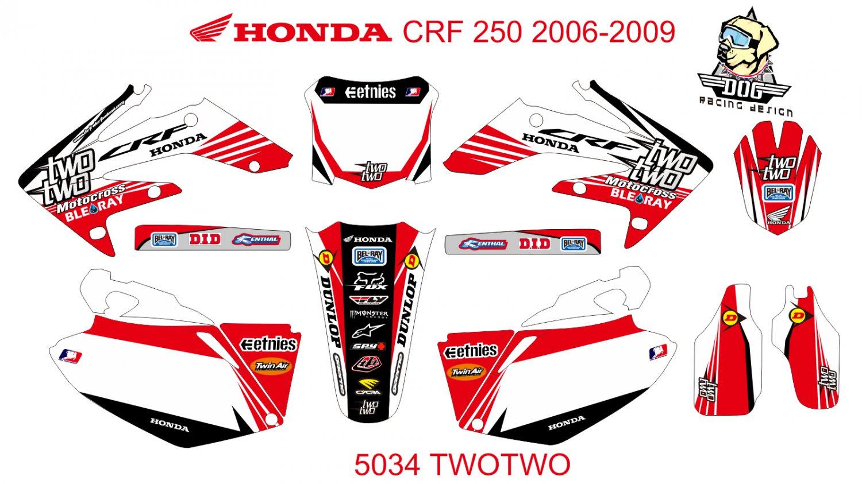 HONDA CRF 250 2006-2009 GRAPHIC DECAL KIT CODE.5034