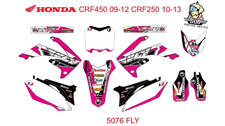 HONDA CRF 450 2009-2012 CRF 250 2010-2013 GRAPHIC DECAL KIT CODE.5076