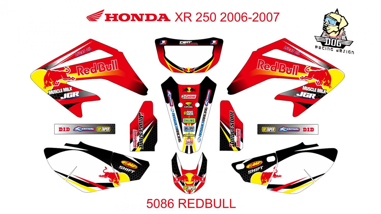 HONDA XR 250 2006-2007 GRAPHIC DECAL KIT CODE.5086