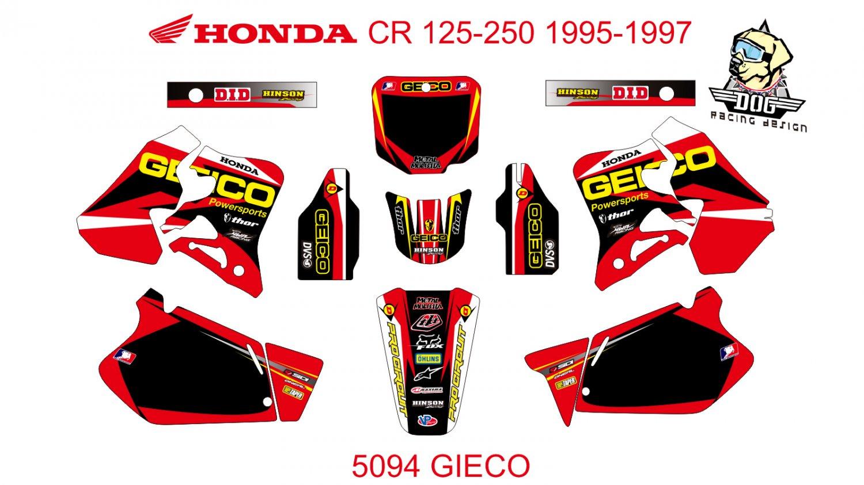 HONDA CR 125-250 1995-1997 GRAPHIC DECAL KIT CODE.5094
