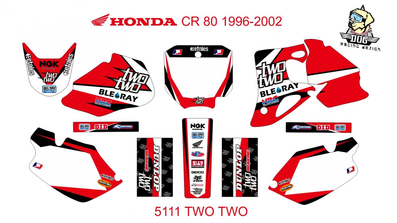 HONDA CR 80 1996-2002 GRAPHIC DECAL KIT CODE.5111