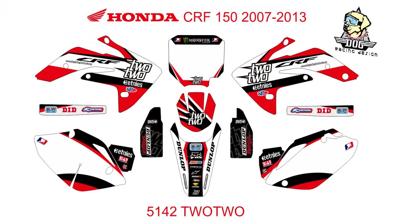 HONDA CRF 150 2007-2013 GRAPHIC DECAL KIT CODE.5142