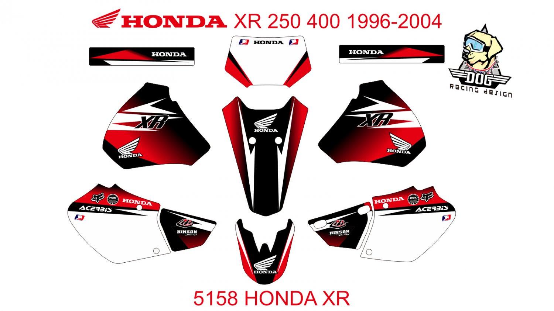 HONDA XR 250 400 1996-2004 GRAPHIC DECAL KIT CODE.5158