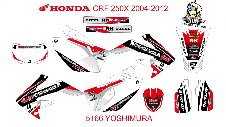HONDA CRF 250X 2004-2012 GRAPHIC DECAL KIT CODE.5166