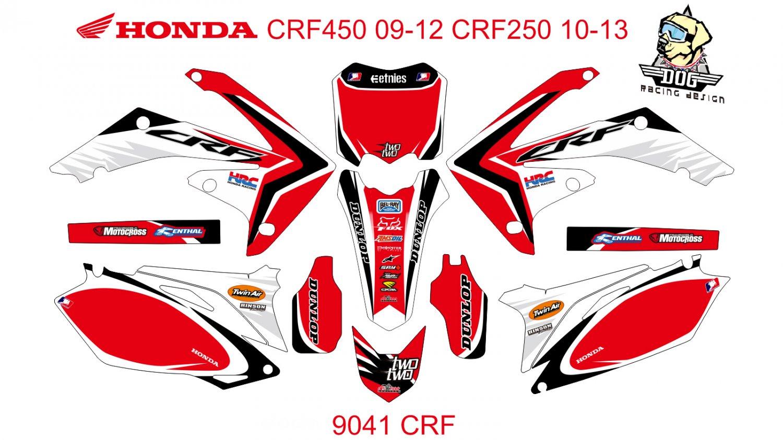 HONDA CRF 450 2009-2012 CRF 250 2010-2013 DECAL KIT CODE.9041