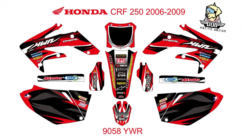 HONDA CRF 250 2006-2009 GRAPHIC DECAL KIT CODE.9058