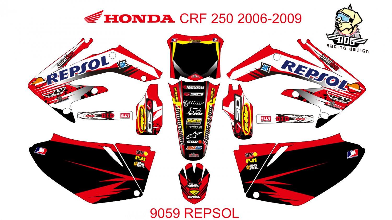 HONDA CRF 250 2006-2009 GRAPHIC DECAL KIT CODE.9059