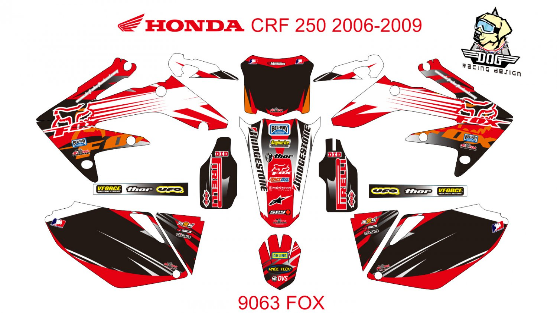 HONDA CRF 250 2006-2009 GRAPHIC DECAL KIT CODE.9063