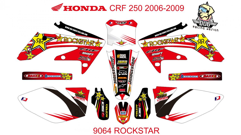 HONDA CRF 250 2006-2009 GRAPHIC DECAL KIT CODE.9064