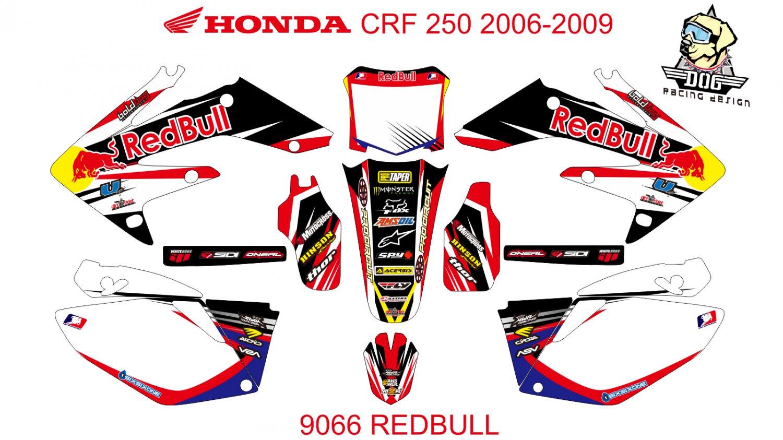HONDA CRF 250 2006-2009 GRAPHIC DECAL KIT CODE.9066