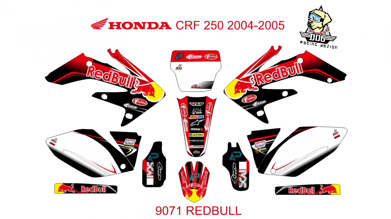 HONDA CRF 250 2004-2005 GRAPHIC DECAL KIT CODE.9071