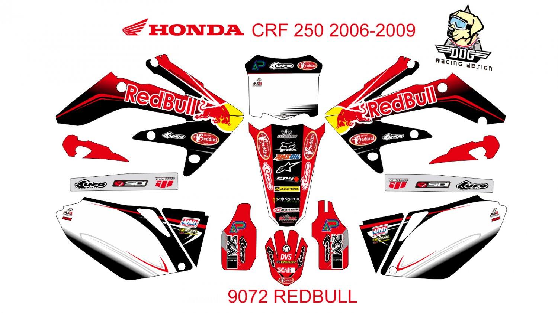 HONDA CRF 250 2006-2009 GRAPHIC DECAL KIT CODE.9072