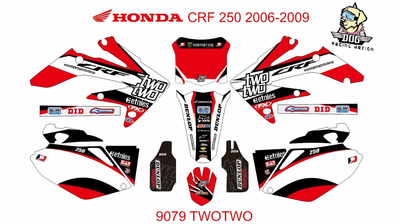 HONDA CRF 250 2006-2009 GRAPHIC DECAL KIT CODE.9079