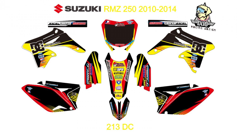 SUZUKI RMZ 250 2010-2014 GRAPHIC DECAL KIT CODE.213