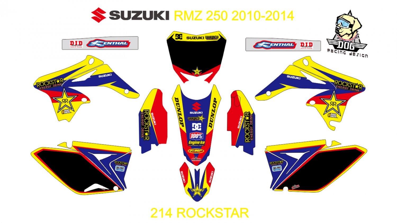 SUZUKI RMZ 250 2010-2014 GRAPHIC DECAL KIT CODE.214