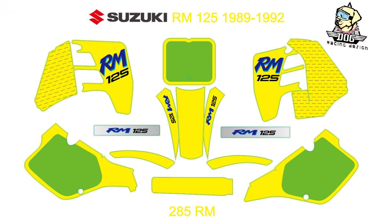 SUZUKI RM 125 1989-1992 GRAPHIC DECAL KIT CODE.285