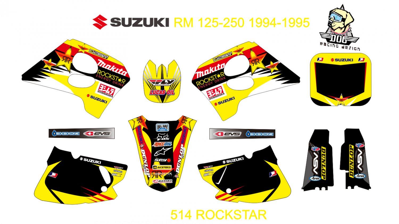 SUZUKI RMZ 125-250 1994-1995 GRAPHIC DECAL KIT CODE.514