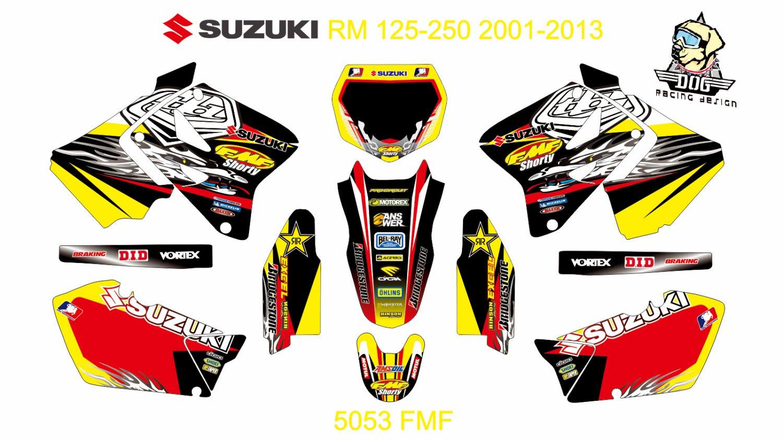 SUZUKI RM 125-250 2001-2013 GRAPHIC DECAL KIT CODE.5053
