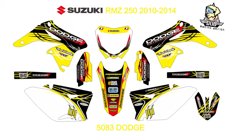SUZUKI RMZ 250 2010-2014 GRAPHIC DECAL KIT CODE.5083