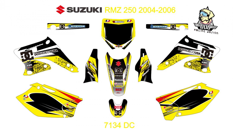 SUZUKI RMZ 250 2004-2006 GRAPHIC DECAL KIT CODE.7134