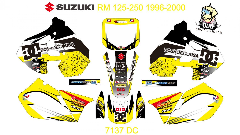 SUZUKI RM 125-250 1996-2000 GRAPHIC DECAL KIT CODE.7137