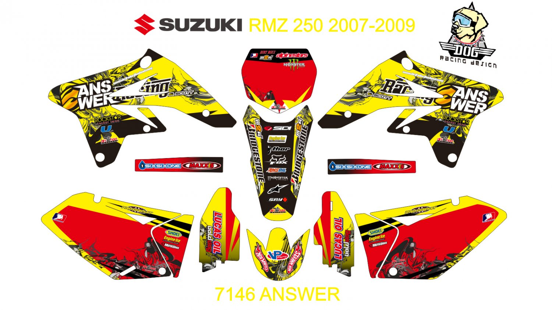 SUZUKI RMZ 250 2007-2009 GRAPHIC DECAL KIT CODE.7146