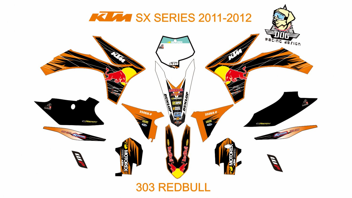 KTM SX SERIES 2011-2012 GRAPHIC DECAL KIT CODE.303
