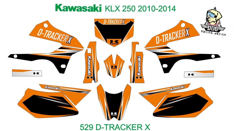 KAWASAKI KLX 250 2010-2014 GRAPHIC DECAL KIT CODE.529