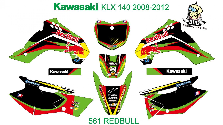 KAWASAKI KLX 140 2008-2012 GRAPHIC DECAL KIT CODE.561