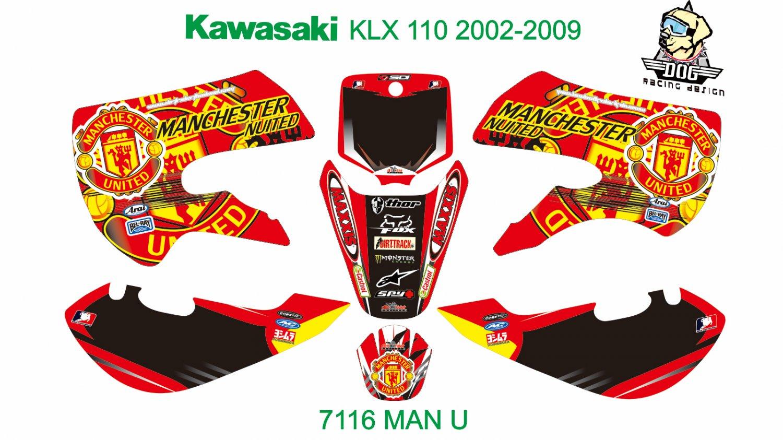 KAWASAKI KLX 110 2002-2009 GRAPHIC DECAL KIT CODE.7116