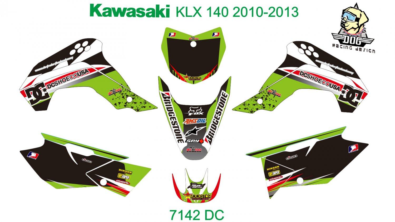 KAWASAKI KLX 140 2010-2013 GRAPHIC DECAL KIT CODE.7142