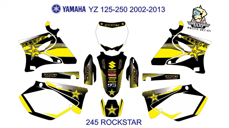 YAMAHA YZ 125-250 2002-2013 GRAPHIC DECAL KIT CODE.245