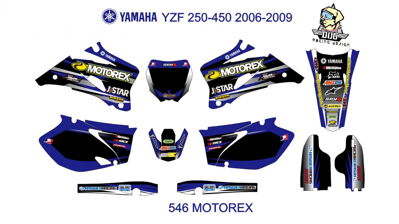YAMAHA YZF 250-450 2006-2009 GRAPHIC DECAL KIT CODE.546