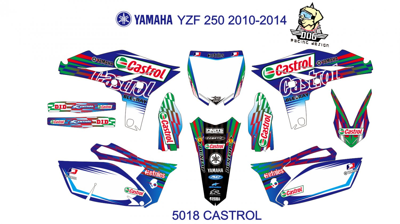 YAMAHA YZF 250 2010-2013 GRAPHIC DECAL KIT CODE.5018