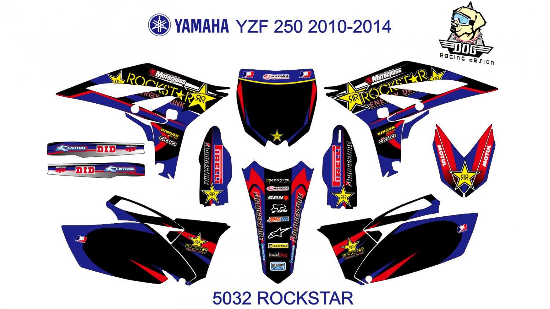YAMAHA YZF 250 2010-2014 GRAPHIC DECAL KIT CODE.5032
