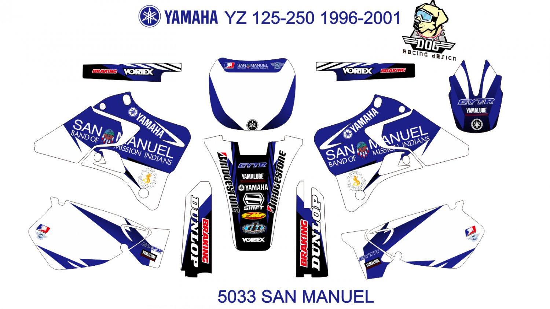 YAMAHA YZ 125-250 1996-2001 DECAL KIT CODE.5033