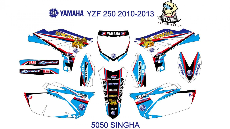 YAMAHA YZF 250 2010-2013 GRAPHIC DECAL KIT CODE.5050